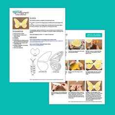 """Download this template to craft your own giant paper butterfly. At 20"""" wide, its a wonderful highlight on a flower wall backdrop at a wedding or as a stand alone wall display. Whether you choose to hand cut or cut with your Silhouette or Cricut Explore craft cutter, this digital kit"""