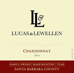 2014 Lucas  Lewellen Chardonnay  Santa Barbara County 750 mL Wine *** You can find more details by visiting the image link.