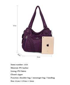 0888f41dca4d 49% СКИДКА|Angelkiss дизайн сумки Хобо женский большой кошелек Feel Soft  Lether несколько Топ молния карманы сумки на плечо купить на AliExpress