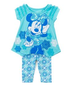 Take a look at this Minnie Mouse Star Swing Top & Leggings - Infant, Toddler & Girls today!