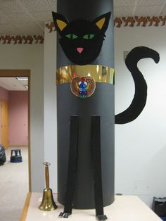 This has some great ideas for Egyptian Decorations for the library!