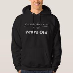 Algebra Equation 40th Birthday Hoodie - funny nerd nerdy nerds geek geeks science cool special fun