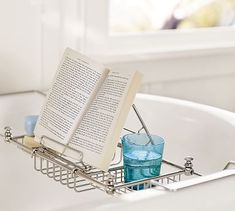 Embrace a night-in with Pottery Barn Mercer bathtub caddy #holiday #gift