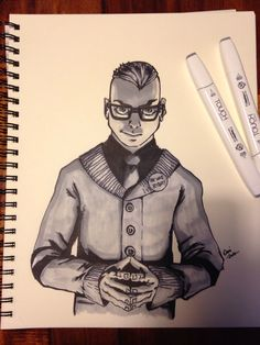 Quentin Quire in greyscale with ShinHan markers. #Marvel #XMen#KidOmega #GeekArt