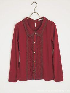 axes femme Wine-red Tops Dress Victorian Classic Lolita Regency Mori Girl Japan #axesfemme #Cardigan #ClassicLolita