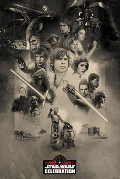 Official 'Star Wars Celebration: Orlando 2017' poster art by Paul Shipper.