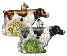 German Shorthair | Old World Christmas Glass Dog Ornaments