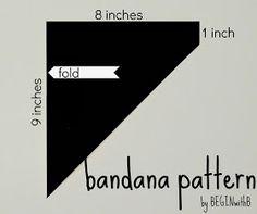 Diy bandana drool bib pattern