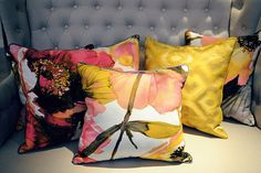 More cushions from Art De Vie featuring cloth from our Art & Soul, New England and Explore collections. Prestigious Textiles, New England, Upholstery, Cushions, Throw Pillows, Bed, Collections, Explore, Decor