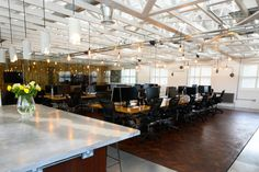Open plan office interior at Delete Leeds   by Redesign