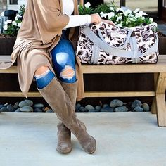 Those boots.   That bag.  : @kassyondesign . . . . . #sloaneranger #sloanestyle #fashion #instaprep #preppy #preppystyle #instastyle #modernprepgazette #preppythings #modernprep #florals #christmas #holiday #fashionblogger #fblogger #styleblogger #travel #travelblogger #instablogger #packing #roadtrip #floral #dsfloral #boots #christmas                                                                                                                                                                                                                                                                                                                                                                                                                                                                                                                                                             All For Color