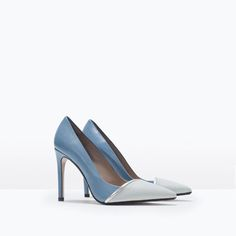 LEATHER TWO-TONE HIGH HEEL COURT SHOE-High-heels-Shoes-WOMAN | ZARA United States