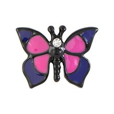 Representing growth and change, add this Fuchsia Butterfly Charm to your Origami Owl Living Locket to help tell your life's journey.
