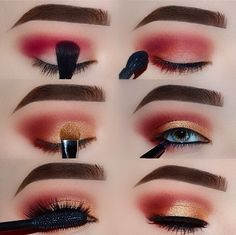 "Ashley Haw ♍️ on Instagram: ""Easy To Follow Glam 💕 You can use whatever eyeshadows you wish! Just follow the steps😉 Follow me @ashleyhawmakeup for daily makeup…"""