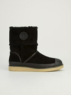 TORY BURCH - leather trim boot