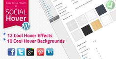 WordPress Plugin – Easy Social Hover allows users to add multiple on hover effects with Social Network Sharing buttons to their images using standard WP media tool. Add Facebook Share, Twitter, Pinterest, LinkedIn and GooglePlus sharing to your Images with a Style! This plugin will enable your visitors to easily and simply share your images over major social networks!