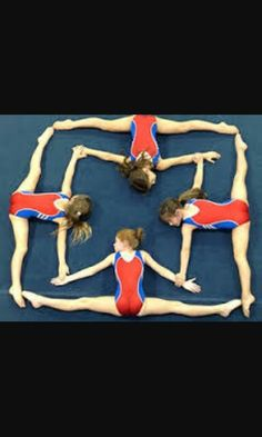 4 gymnast make up a square Gymnastics Quotes, Gymnastics Pictures, Sport Gymnastics, Dance Pictures, Rhythmic Gymnastics, Gymnastics Stuff, Flexibility Dance, Gymnastics Flexibility, Gymnastics Photography