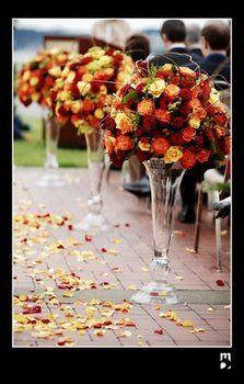 Wedding, Flowers, Ceremony, Aisle