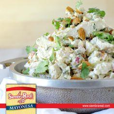 Disfruta el delicioso sabor de Mayonesa Siembra Real, acompaña todas nuestras comidas con sabor y cremosidad, que no falte en tu mesa.