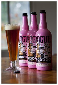 """Rogue Brewery - Voodoo Doughnuts """"Maple Bacon Beer"""" - Portland OR  Matt was bummed he didn't invent this haha."""