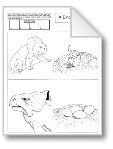 Dinosaurs: Life Cycle and Language Activities grades 1-3This dinosaur unit presents a four-part puzzle of a protoceratops' life cycle, a variety of interesting language activities about dinosaurs, and a set of reproducible picture cards of dinosaurs and other prehistoric animals.