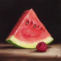 Jane Palmer   OIL   Watermelon and Raspberry II