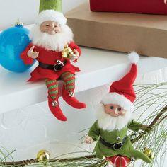 Raz 10 Red and Green Posable Elf Christmas Figure 3802424 Elf Christmas Decorations, Elf Christmas Tree, Elf Decorations, Old World Christmas, Christmas Store, Vintage Christmas, Xmas, Holiday Ornaments, Christmas Wreaths