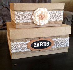 DIY... Country wedding card box!!