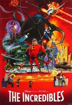 Limited edition poster of The Incredibles by Robert McGinnis, commissioned by Brad Bird for the Pixar artists who worked on his 2004 film Walt Disney, Disney Pixar, Disney Fun, Disney Magic, Toy Story 3, Pixar Movies, Disney Movies, Disney Stuff, Kid Movies