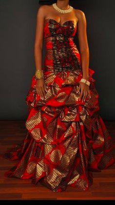 Lovely gown ~African Prints, African women dresses, African fashion styles, african clothing
