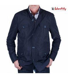 Jacheta bleumarin de primavara Leather Jacket, Fashion, Studded Leather Jacket, Moda, Leather Jackets, Fashion Styles, Fasion