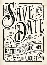 Inked Save the Date Cards by GeekInk Design | Minted Peter tips his bowler hat.