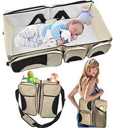 Trending Fashion & Travel: TinyToes 3 in 1 - Travel Bassinet - Diaper bag - C...