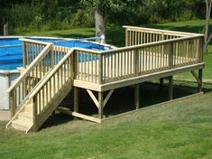 Image result for above ground pool deck with gate ideas