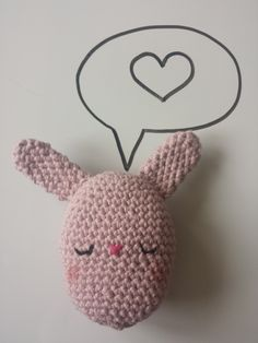 Crochet stuffed Bunny Egg toy, in 100% Cotton, Pastel Pink/Purple, Available in other colours by CroShellbyshelley on Etsy
