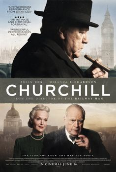 Directed by Jonathan Teplitzky.  With Brian Cox, Miranda Richardson, John Slattery, Ella Purnell. 96 hours before the World War II invasion of Normandy, British Prime Minister Winston Churchill struggles with his severe reservations with Operation Overlord and his increasingly marginalized role in the war effort.