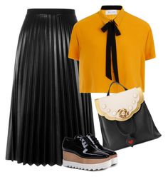 """""""retro gothic gucci chic"""" by stylekaris ❤ liked on Polyvore featuring Aviù, Elvi, Gucci and STELLA McCARTNEY"""