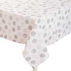 Ladelle Spots Tablecloth Grey 150 x 230 cm