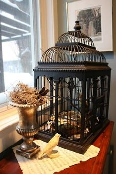 Birdcage for top of armoire
