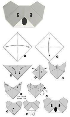 Read more about Origami Paper Craft - DIY Papier Origami Koala, Instruções Origami, Origami Fish, Origami Bookmark, Paper Crafts Origami, Origami Stars, Origami Ideas, Dollar Origami, Origami Lamp
