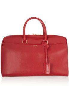 Saint Laurent Classic Duffle 12 leather bag