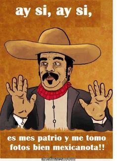 Ay si, es mes patrio y me tomo fotos bien mexicanota