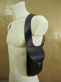 Leather shoulder holster bag от OakCreationCuir на Etsy