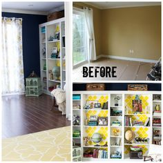 DIY Ikea hack - Billy Built In Bookcases