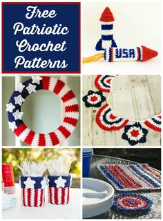 Free 4th of July Crochet Patterns! Check out this great Independence Day roundup from Petals to Picots!