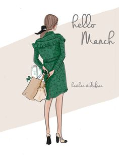 illustration by Heather Stillhufsen Seasons Months, Months In A Year, Rose Hill Designs, Hello March, Hello Weekend, Sassy Pants, New Month, Illustrations, Lady