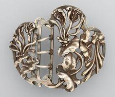 Silver 800 belt buckle, France approx. 1900.