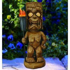 New Tiki Warrior Light Statue by Bay Isle Home Patio Garden Furniture. Fashion is a popular style Car Part Furniture, Automotive Furniture, Automotive Decor, Garden Furniture, Fairytale House, Handmade Furniture, Modern Furniture, Furniture Design, Hawaiian Tiki