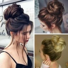 15 easy messy bun tutorials & quick updo hairstyles easy messy hairstyles easy messy buns for long hair 15 easy … Prom Hair Medium, Up Dos For Medium Hair, Medium Hair Styles, Curly Hair Styles, Easy Messy Hairstyles, Pretty Hairstyles, Wedding Hairstyles, Elegant Hairstyles, Messy Bun Updo