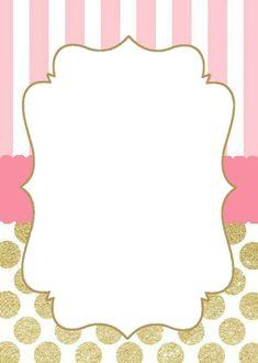 Tarjeta Baby Invitations, Digital Invitations, Birthday Party Invitations, Barbie Birthday, Baby Girl Birthday, Girl Birthday Decorations, Invitation Background, Birthday Frames, Minnie Mouse Party
